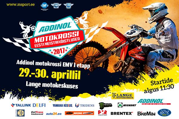 Addinol motokrossi EMV I etapp Langel 29.-30. aprillil 2017