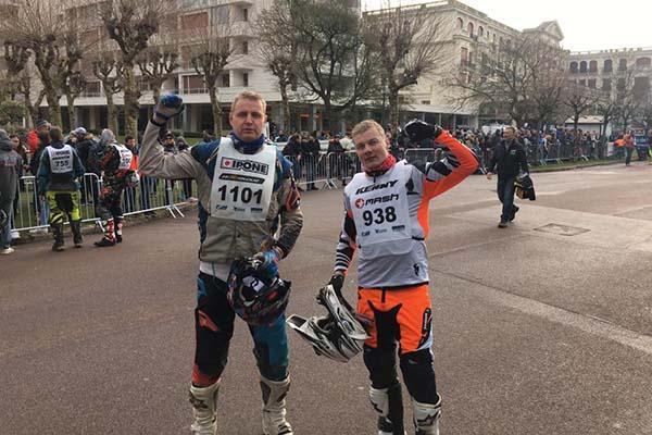 Riho Kollist (vasakul) ja Jaanus Koval Le Touquet 2017, foto erakogu